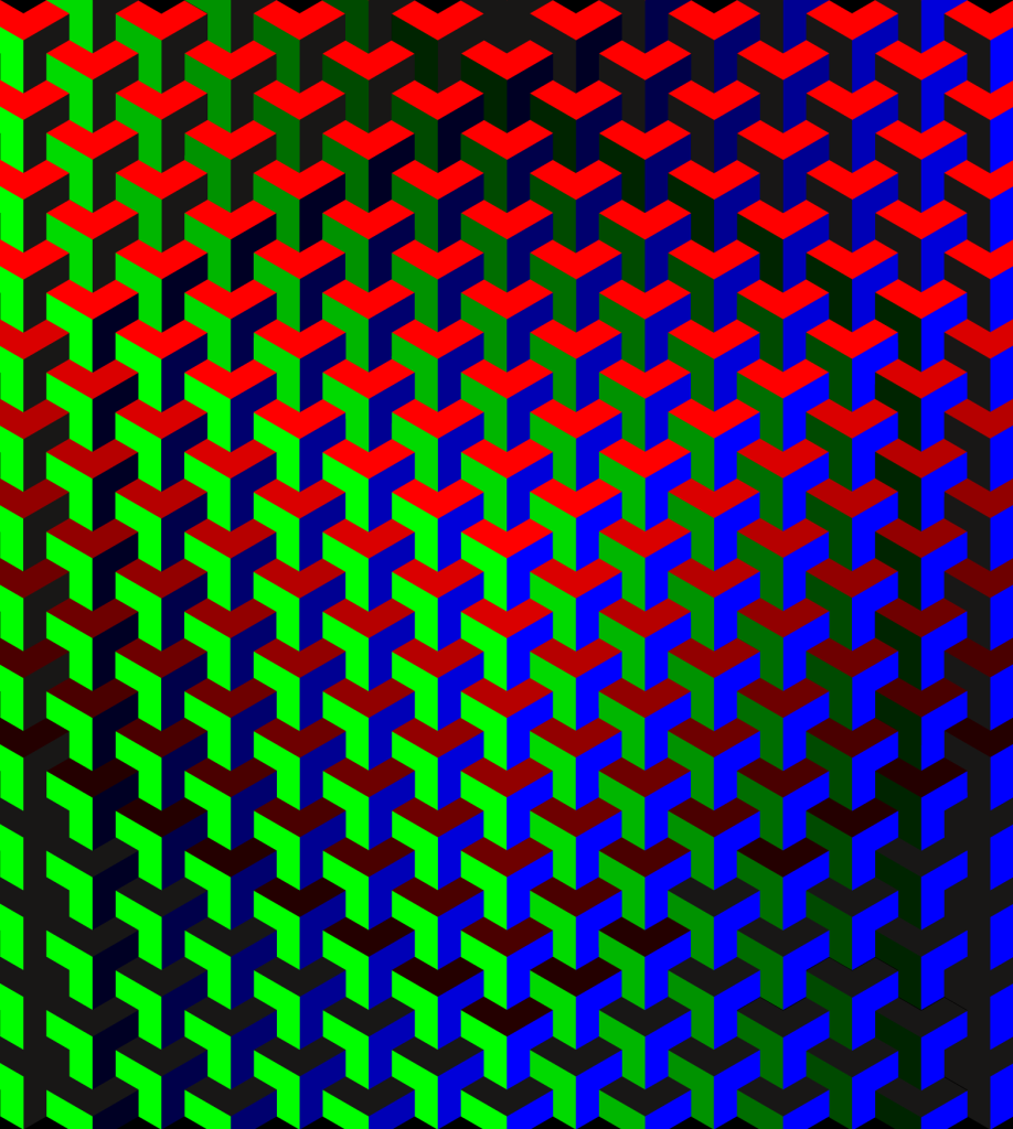 RGB pattern (2015). Op Art by Dennis Smit
