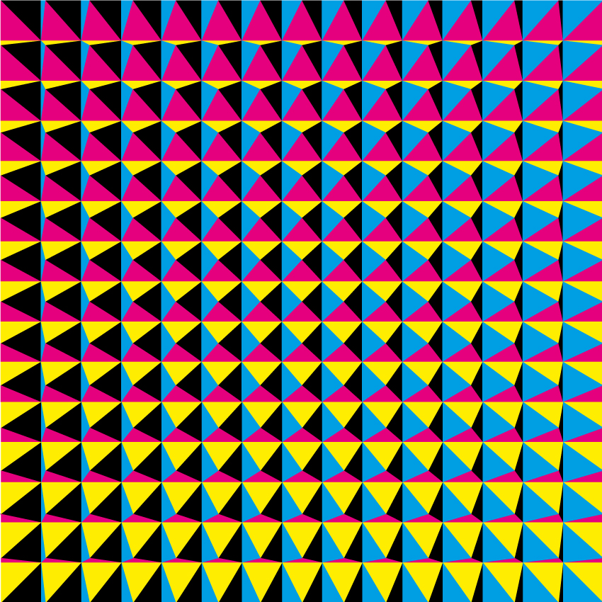 Pyramids I (2015). Op Art by Dennis Smit